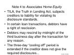 note 4 to associates home equity
