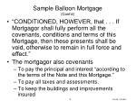 sample balloon mortgage cont d