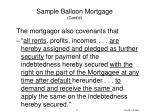 sample balloon mortgage cont d2