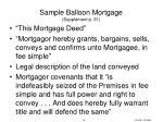 sample balloon mortgage supplement p 31