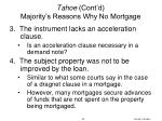 tahoe cont d majority s reasons why no mortgage2