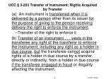 ucc 3 203 transfer of instrument rights acquired by transfer