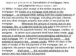 west s f s a 701 04 701 04 cancellation of mortgages liens and judgments effective october 1 2007