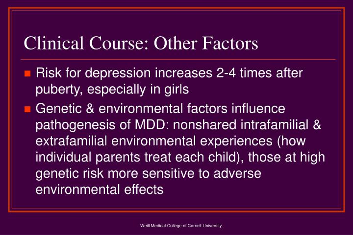Clinical Course: Other Factors