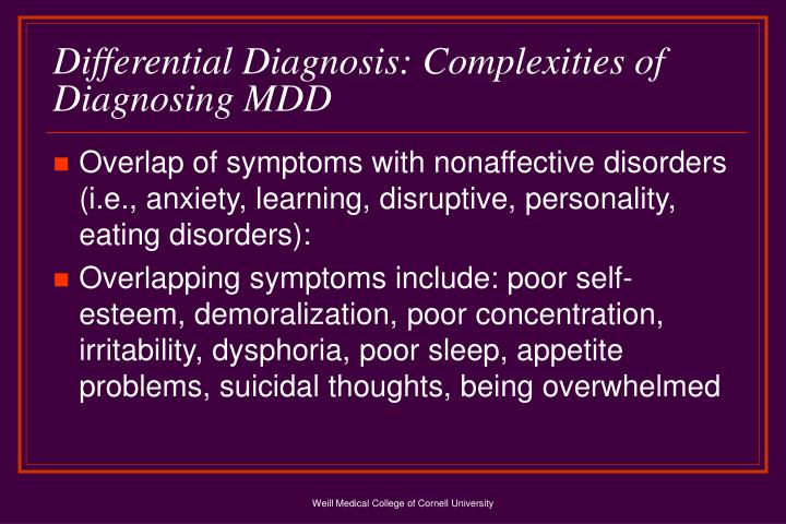 Differential Diagnosis: Complexities of Diagnosing MDD
