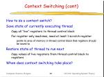context switching cont