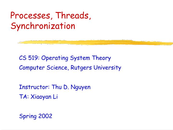 processes threads synchronization