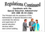 coordinate with the special education administrator 603 cmr 28 03 3 b