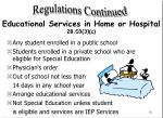 educational services in home or hospital 28 03 3 c