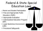 federal state special education laws