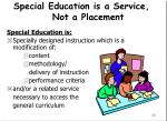 special education is a service not a placement