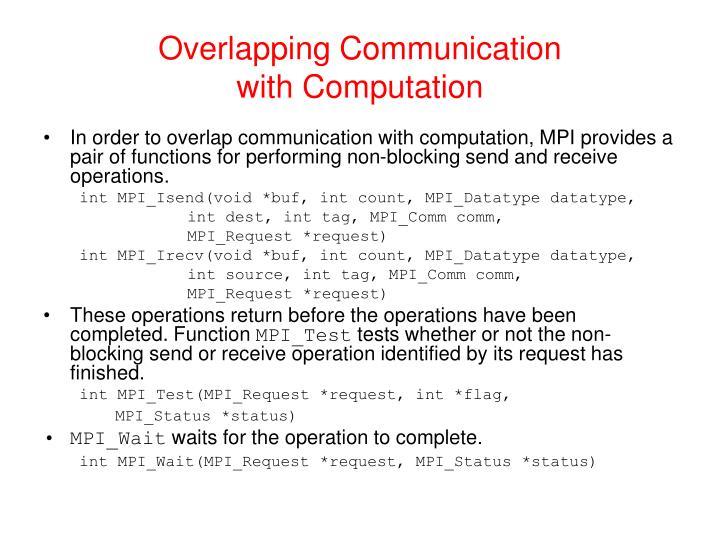 Overlapping Communication