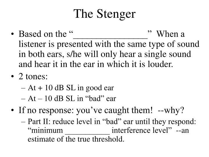 The Stenger