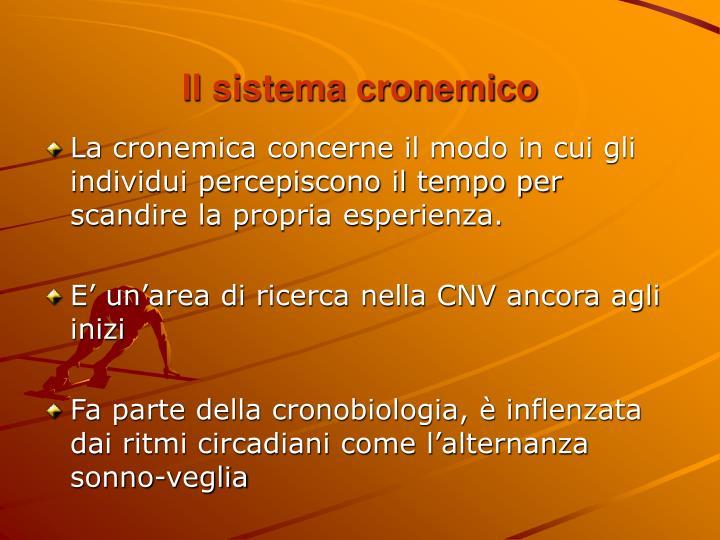 Il sistema cronemico