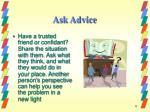 ask advice