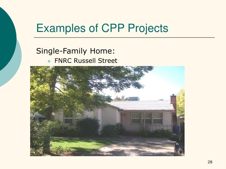 Examples of CPP Projects