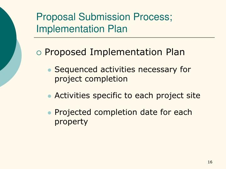 Proposal Submission Process;