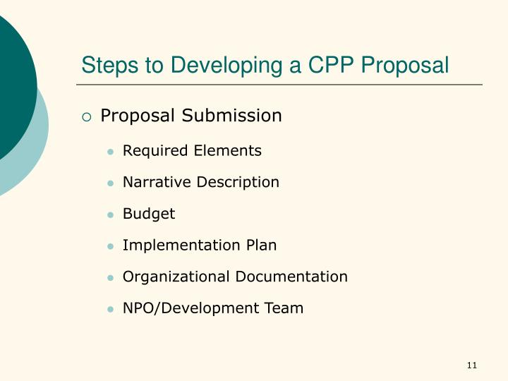 Steps to Developing a CPP Proposal