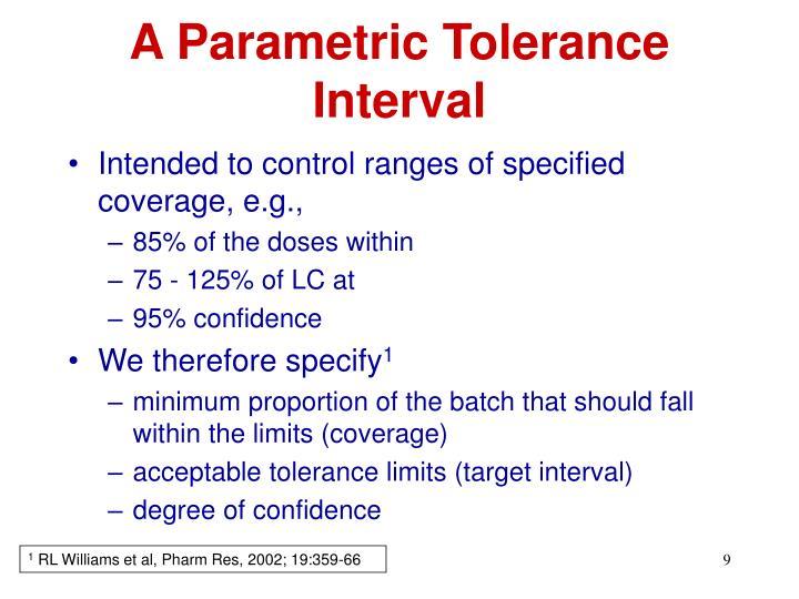 A Parametric Tolerance Interval