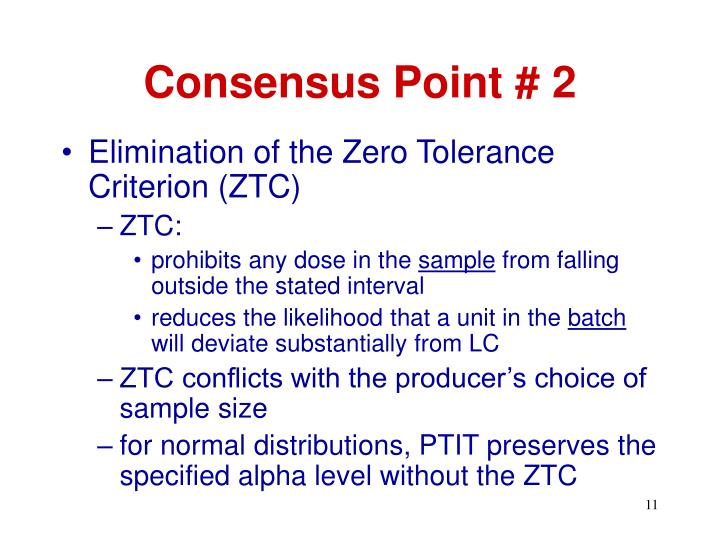 Consensus Point # 2
