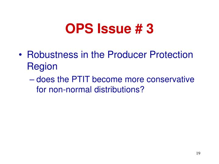 OPS Issue # 3