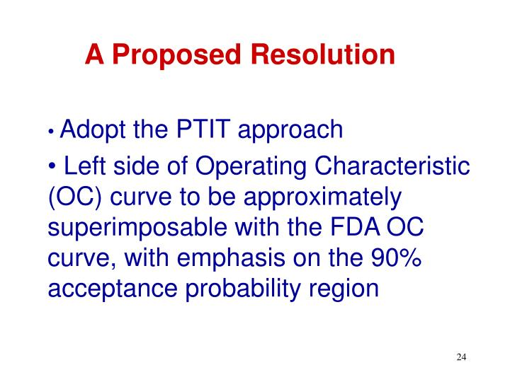A Proposed Resolution