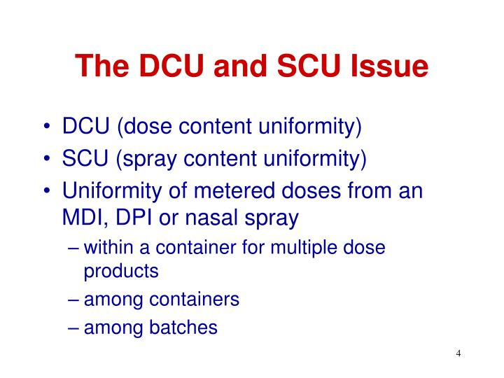 The DCU and SCU Issue