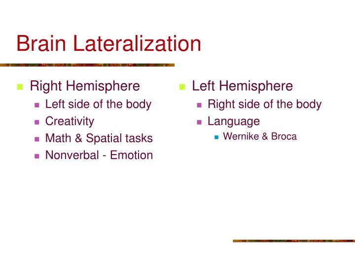 Left Hemisphere