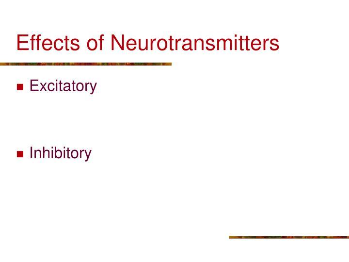 Effects of Neurotransmitters