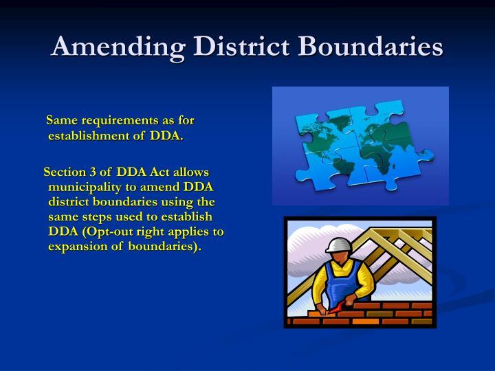 Amending District Boundaries