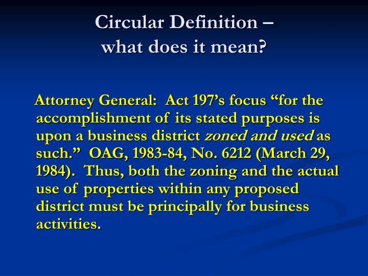 Circular Definition –