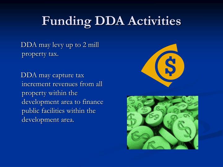 Funding DDA Activities
