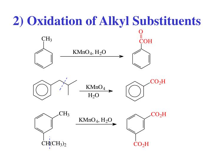 2) Oxidation of Alkyl Substituents