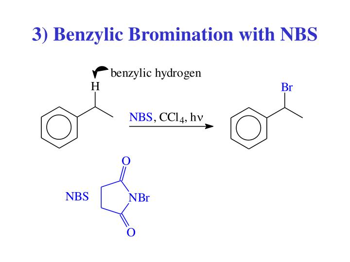 3) Benzylic Bromination with NBS