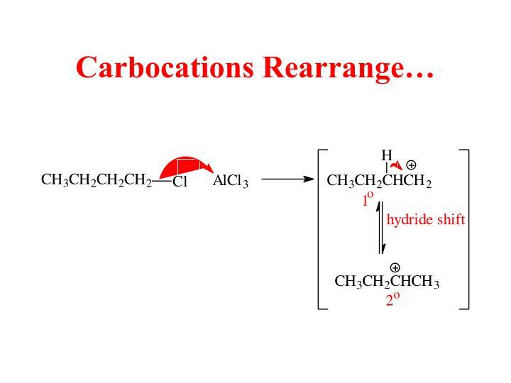 Carbocations Rearrange…