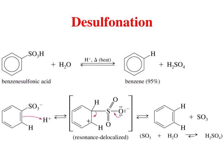 Desulfonation