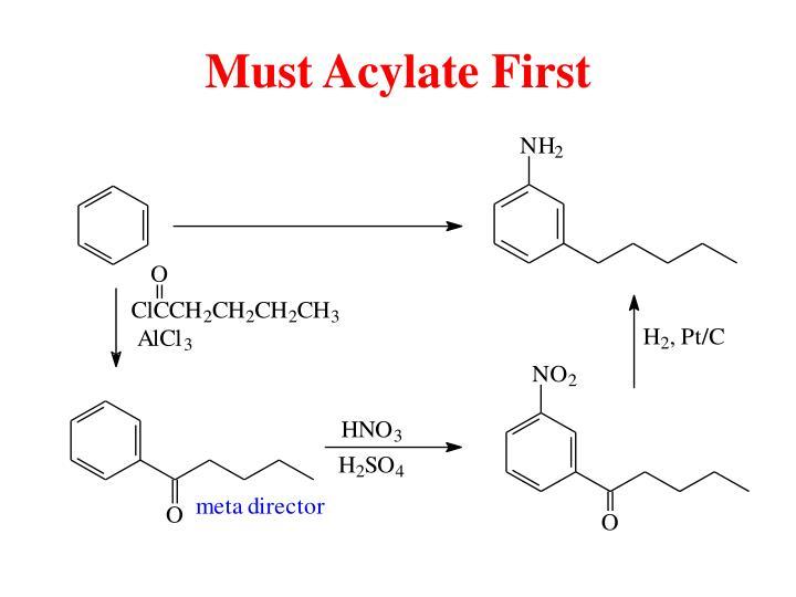 Must Acylate First