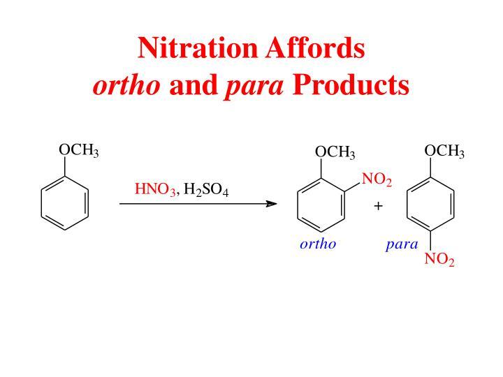 Nitration Affords
