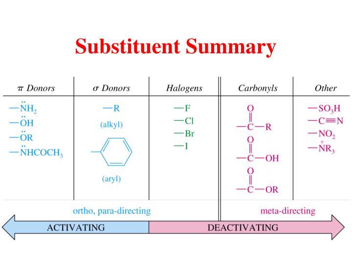 Substituent Summary