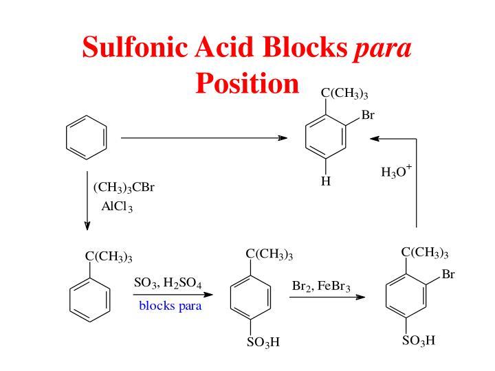 Sulfonic Acid Blocks