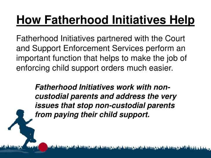 How Fatherhood Initiatives Help