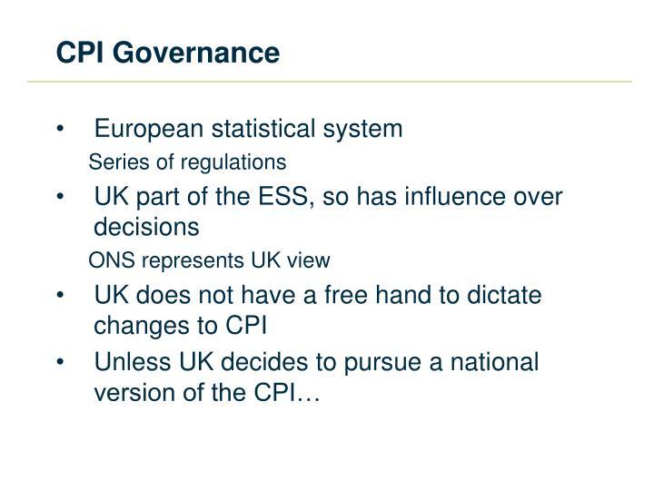 CPI Governance