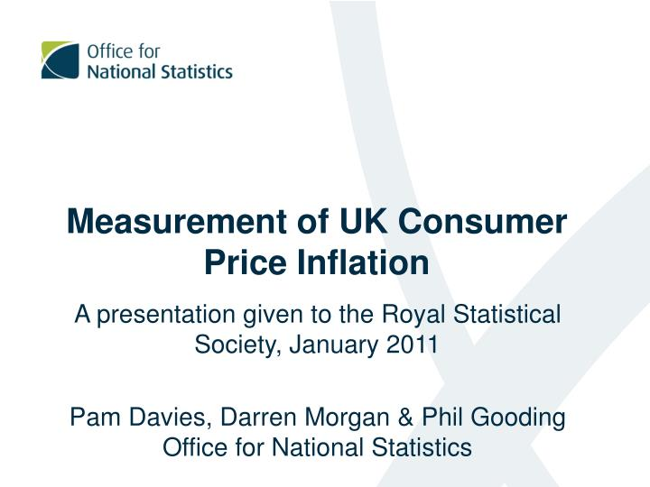 Measurement of UK Consumer Price Inflation