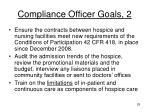 compliance officer goals 2
