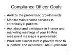 compliance officer goals