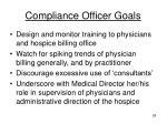 compliance officer goals1