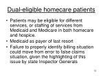 dual eligible homecare patients