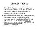 utilization trends