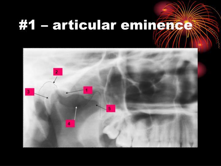 #1 – articular eminence