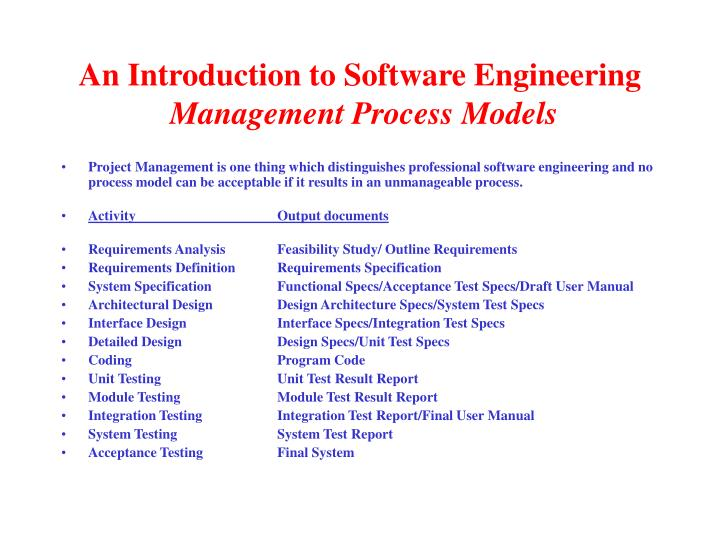 An Introduction to Software Engineering